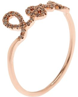 Rose Gold And Diamond Love Ring