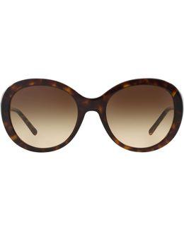 Round Gabardine Sunglasses