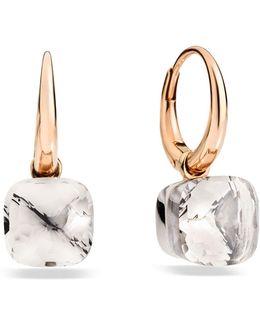 Nudo White Topaz Rose Gold Earrings