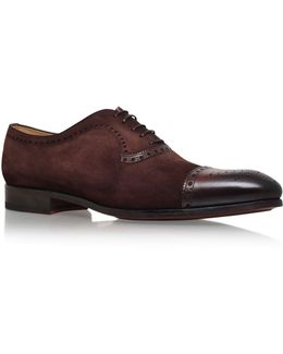 Suede And Leather Oxford