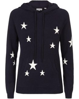 Star Cashmere Hooded Sweater