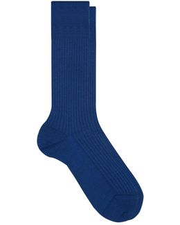 Merino Wool-blend Ribbed Socks