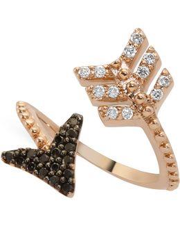 Black Diamond Eros Arrow Midi Wrap Ring