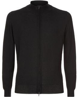 Claygate Merino Wool Zip-through Jumper