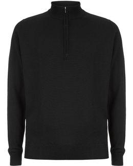 Easy Fit Merino Zip Neck Sweater