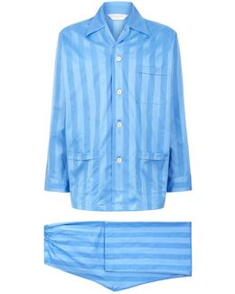Lingfield Cotton Stripe Pyjama Set