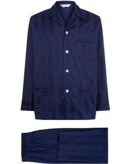Lingfield Satin Stripe Pyjama Set