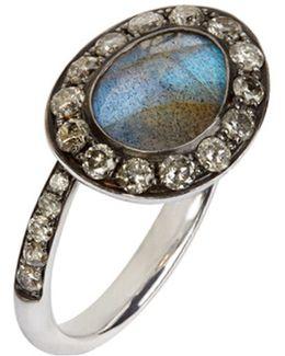 Dusty Diamonds Labradorite Side Ring