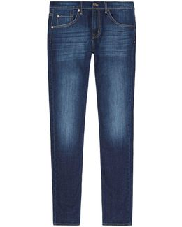 Straight Whiskered Jeans