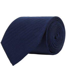 Diagonal Herringbone Print Tie