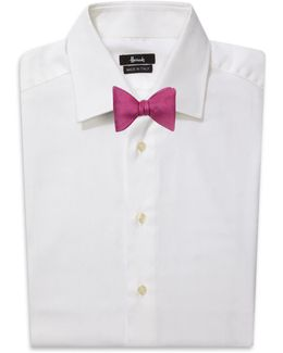 Embroidered Silk Bow Tie