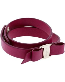 Vara Leather Bow Wrap Bracelet
