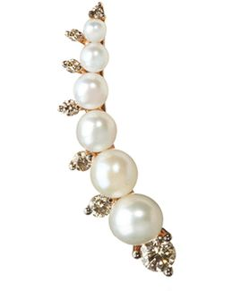 Diamonds And Pearls Right Ear Pin