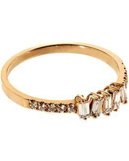 Baguette White Diamond Ring
