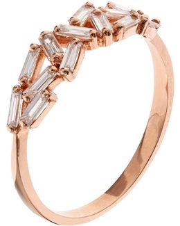 Rose Gold Chevron Diamond Ring