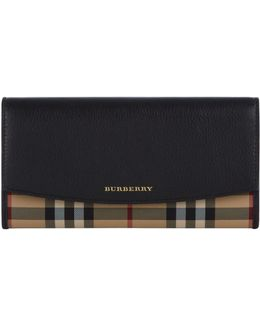 Porter Horseferry Check And Leather Continental Wallet