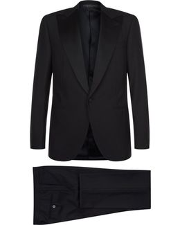Satin Lapel Wool Tuxedo