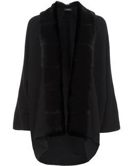 Mink Fur Trimmed Cardigan