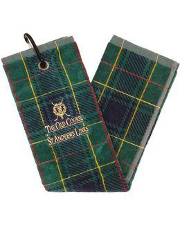 St Andrews Links Tartan Golf Towel