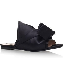Satin Bow Slipper