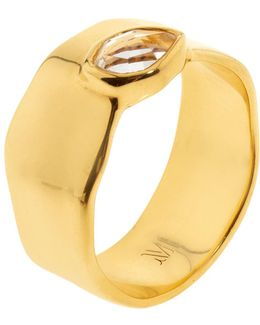 Siren Wide Band Topaz Ring