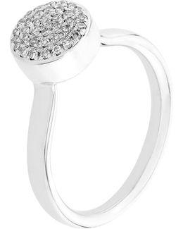 Ava Diamond Button Ring