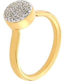 Ava Diamond Button Ring