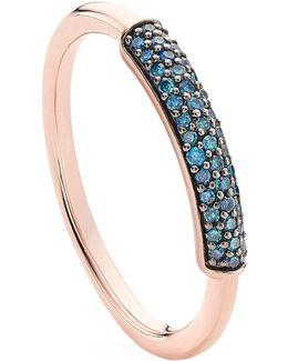 Fiji Bar Blue Diamond Stacking Ring