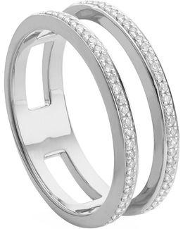 Skinny Double Band Diamond Ring