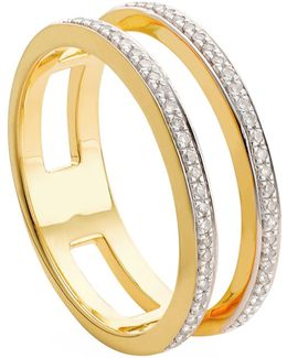 Skinny Double Band Diamond Ring
