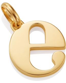 Gold Lower Case E Pendant