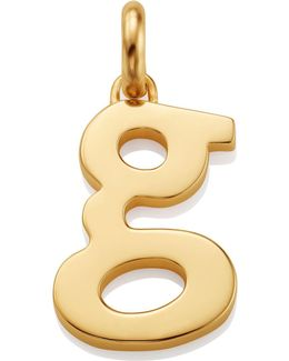 Gold Lower Case G Pendant