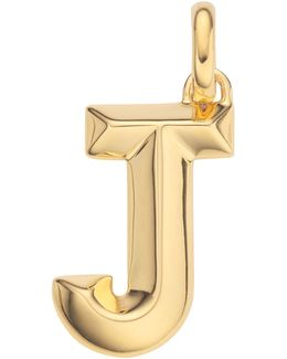 Gold Capital J Pendant