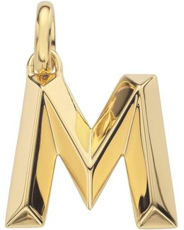 Gold Capital M Pendant