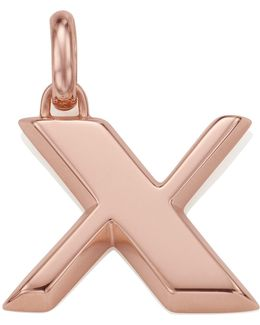 Rose Gold Capital X Pendant