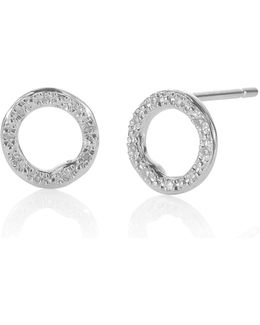 Riva Diamond Circle Stud Earrings
