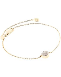 Ava Diamond Button Bracelet