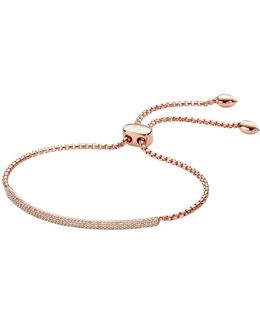 Stellar Champagne Diamond Mini Bar Bracelet