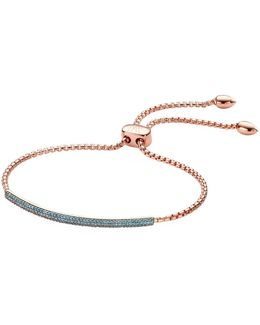 Stellar Blue Diamond Mini Bar Bracelet