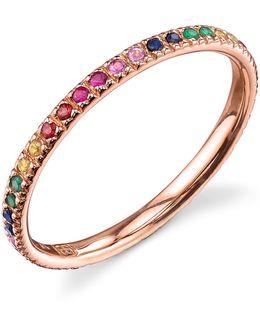 Rose Gold Rainbow Ring