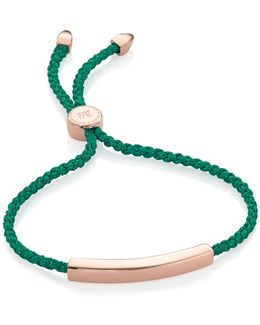 Linear 18ct Rose Gold-plated Friendship Bracelet