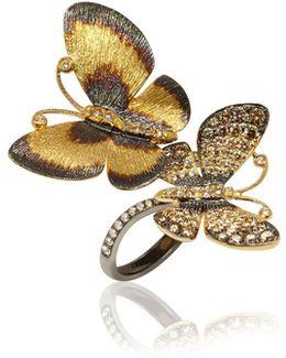 Butterflies Duet Ring