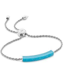 Linear Turquoise Chain Bracelet
