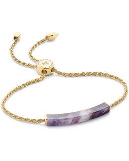 Linear Amethyst Chain Bracelet