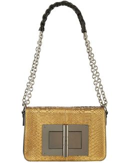 Natalia Large Python Chain Shoulder Bag