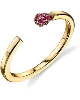 Matchstick Ruby Ring
