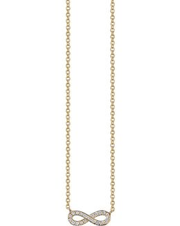 Pav Diamond Infinity Necklace