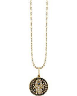 Small Diamond Hamsa Medallion