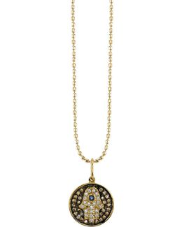 Small Diamond Hamsa Medallion