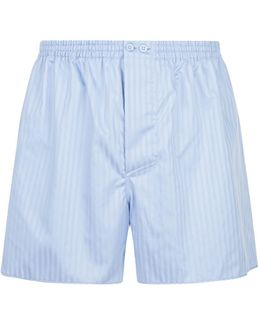 Woven Stripe Boxer Shorts